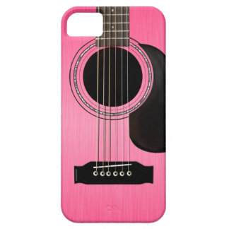 Pink Acoustic Guitar iPhone 5 Cover