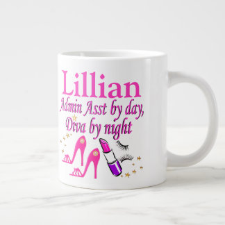 PINK ADMIN ASST FASHION QUEEN PERSONALIZED MUG