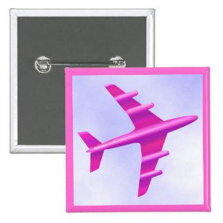 Pink Aeroplane Buttons