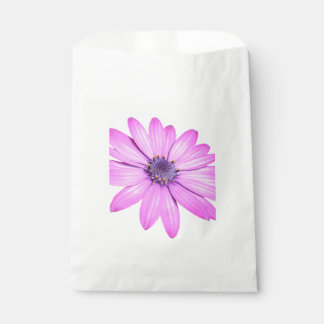 Pink Afrıcan Daisy With Transparent Background Favour Bag