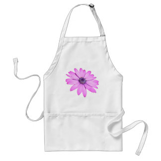 Pink Afrıcan Daisy With Transparent Background Standard Apron
