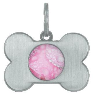 Pink after rain pet name tags
