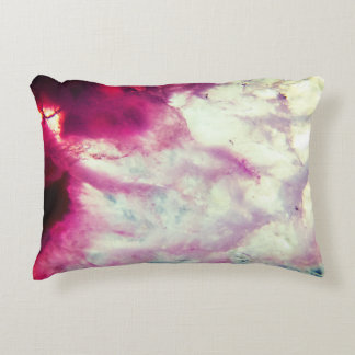 Pink Agate Crystal Decorative Cushion