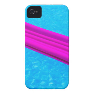 Pink air mattress on water of swimming pool Case-Mate iPhone 4 cases