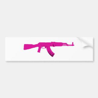 Pink AK-47 Car Bumper Sticker