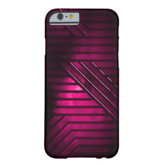 Pink Alien Metal Barely There iPhone 6 Case