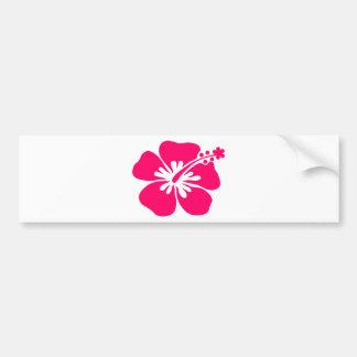 pink aloha flower bumper sticker