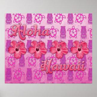 Pink Aloha Hawaii Print