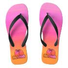 Pink Aloha Palm Thongs