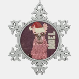 Pink Alpaca Noel Ornament