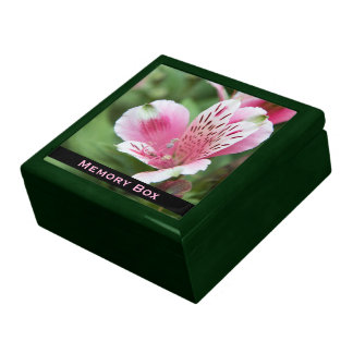 Pink Alstroemeria Tile Box