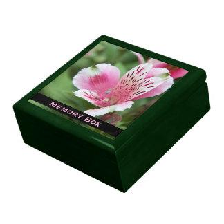 Pink Alstroemeria Tile Box Large Square Gift Box