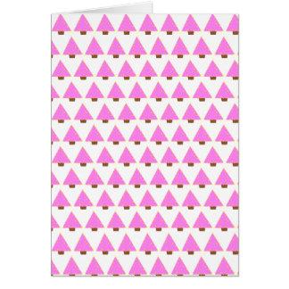 pink alternative christmas tree greeting card