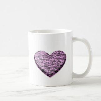 Pink Aluminum Foil Heart Coffee Mugs