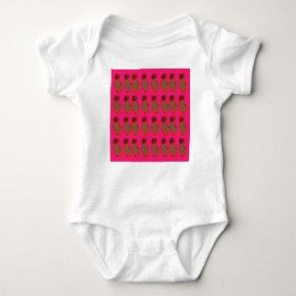 Pink ananas cute baby bodysuit
