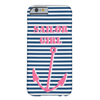 Pink anchor iPhone 6 case | Sailor girl Barely There iPhone 6 Case