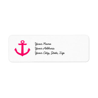 Pink Anchor Label