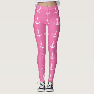Pink Anchor Leggings