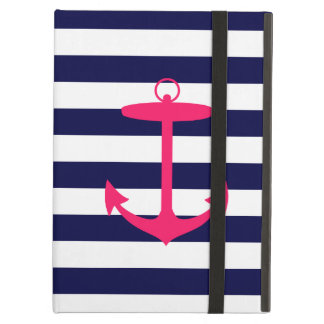 Pink Anchor Silhouette iPad Cases