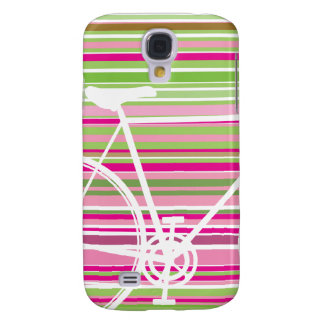 Pink and abstract Bicycle samsung galaxy Samsung Galaxy S4 Cover