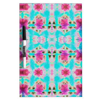 Pink and Aqua abstract flower patterned Dry Erase Boards