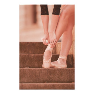 Pink and Ballerina Legs - Point Shoes Customized Stationery