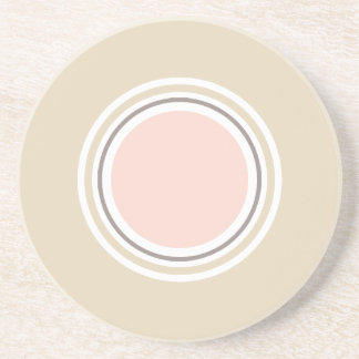 Pink and Beige Round Coaster