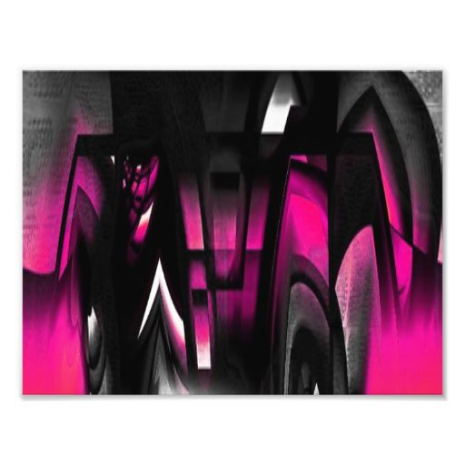 Pink and Black Abstract Photo Print