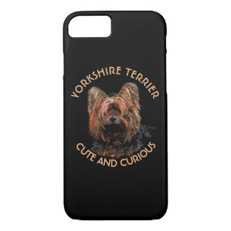 Pink And Black Abstract Yorkshire Terrier iPhone 8/7 Case