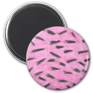 Pink and black animal-print magnet