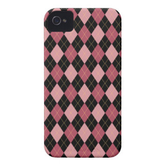 Pink and Black Argyle BlackBerry Case