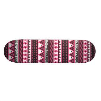 Pink and Black Aztec Tribal Pattern Design Custom Skate Board