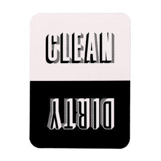 Pink and Black Block Modern Typography Dishwasher Rectangular Photo Magnet