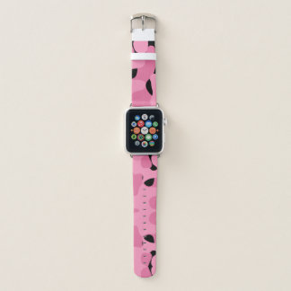 pink and black camo abstract apple watch band