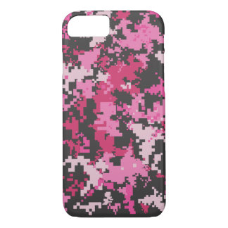 Pink and Black Camo iPhone 7 case