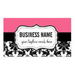 Pink and Black Card with Damask