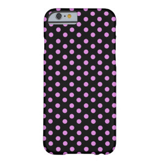 Pink and Black Colour Polka Dots Barely There iPhone 6 Case