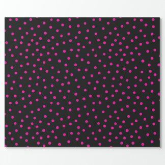 Pink And Black Confetti Dots Pattern