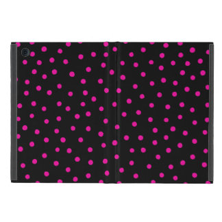 Pink And Black Confetti Dots Pattern Cover For iPad Mini