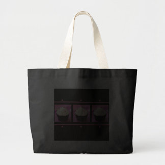 Pink and Black Cupcake Business Products Canvas Bag
