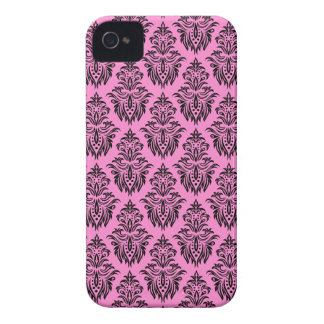 Pink and black damask pattern BlackBerry Bold case