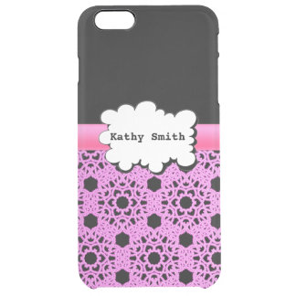 Pink and Black Damasks Print Uncommon Clearly™ Deflector iPhone 6 Plus Case
