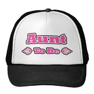 Pink and Black Design for Aunts Cap