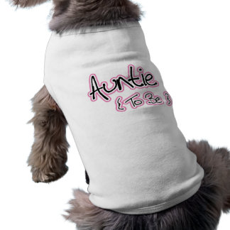Pink and Black Design for Aunts Sleeveless Dog Shirt