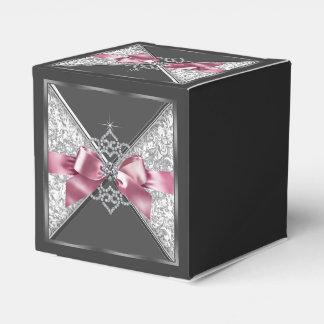 Pink and Black Diamond Sweet 16 Favour Box