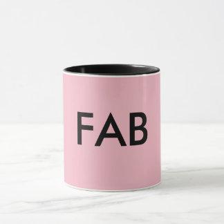 Pink and black FAB mug