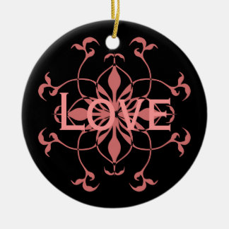 Pink and black first Christmas together ornament