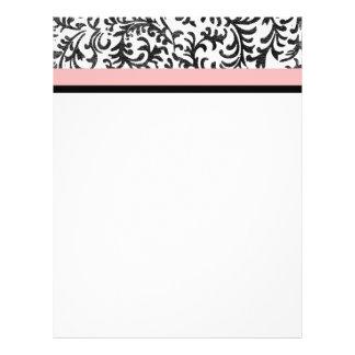 Pink and Black Floral Pattern 21.5 Cm X 28 Cm Flyer