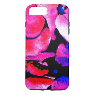 Pink and Black Flowers iPhone 7 Plus Case