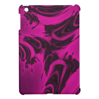 Pink and black fractal cover for the iPad mini
